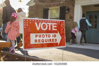 ARLINGTON, VIRGINIA, USA - NOVEMBER 8, 2016: Voters on presidential election day.