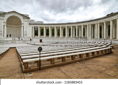 Arlington, Virginia, USA - September 15, 2018: Memorial Amphitheater at Arlington National Cemetery