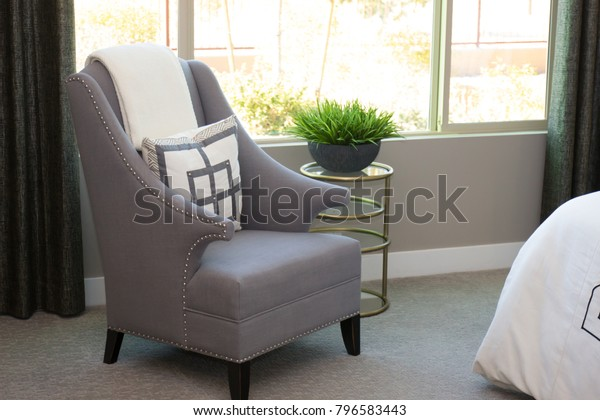 Arm Chair Modern Bedroom Stock Photo (Edit Now) 796583443