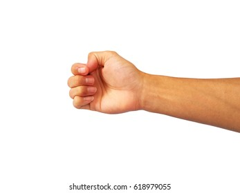 Arm stretched out and fist