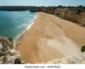 ARMACAO DE PERA, PORTUGAL -MAY 18: A view of coast Algarve near city Armacao de Pera in the south of the country, Portugal, 2016