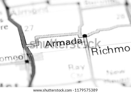 Armada Michigan Usa On Map Stock Photo Edit Now 1179575389