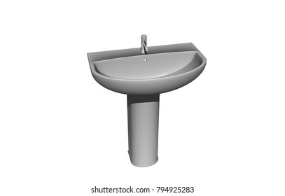 Armartur Bathroom 3D rendering