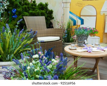 armchair with lavender