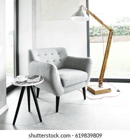 Armchair in a modern apartment