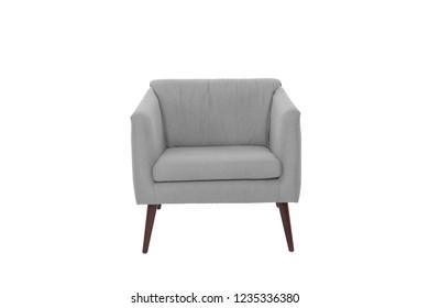 armchair. Modern designer chair on white background. Texture chair.
