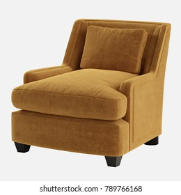 Armchair on white background 3d rendering