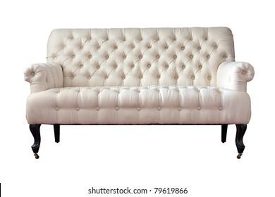 Armchair-Fabric arm chair, classical stylish armchair isolated