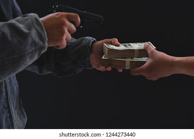 Armed Robbers Used The Gun To Robbery Money Uses In