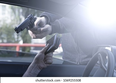 armed robbery of the car driver.