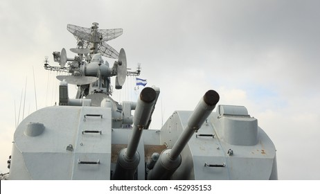 armed Russian warship