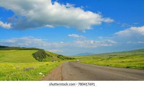 Armenia riding road - Shutterstock ID 780417691