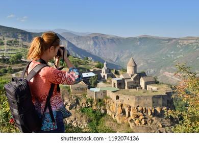 Armenia, Tatev monastery is a 9th century historical monument. It is one of the oldest and most famous monastery complexes in Armenia, Goris city