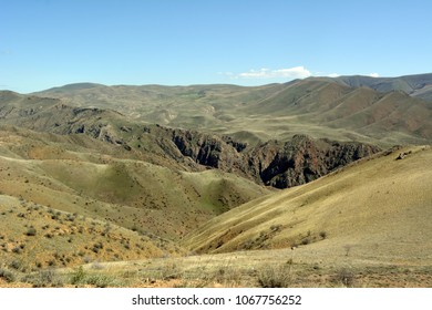 Armenia. View of the gorge of the Arpa River.