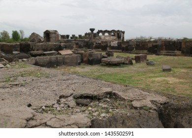in armenia zvartnots the old buildings and historical site protect by unesco