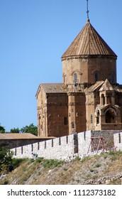 Armenian Church of the Holy Cross stands on Akhtamar Island (Akdamar) in Lake Van,  Turkey