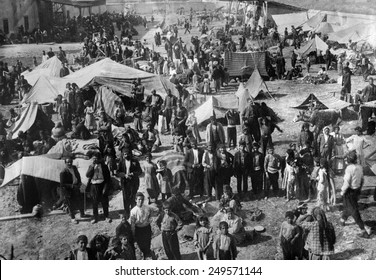 Armenian families in a refugee camp in Dec. 1920. After WW1 was over, the Turks, Russians and Armenians were still fighting, displacing many Armenians.