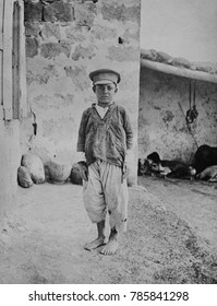 Armenian genocide victim, an orphan boy, was the only survivor of family of 15. 1915-1920
