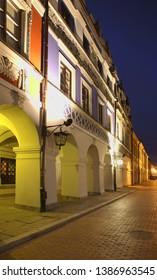 Armenian street in Zamosc. Poland