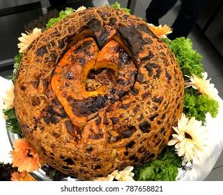 Armenian stuffed pumpkin dish Ghapama