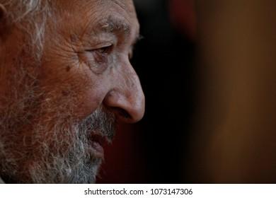 Armenian-Turkish photojournalist, Ara Guler talks with people after his speech in Istanbul, Turkey on Oct. 22, 2015