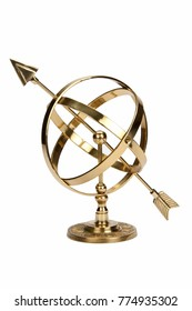 Armillary Sphere or Armilla - a celestial globe consisting of metal hoops. Used by early astronomers to determine the positions of stars