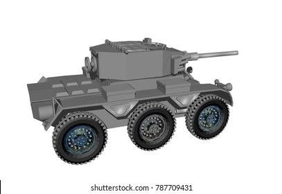 armoured personnel carrier 3D rendering