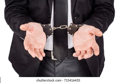 arms with handcuffs