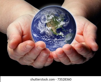 Arms with small Earth isolated