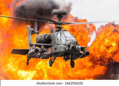 Army Air Corps WAH-64D Apache captured at the 2019 Royal International Air Tattoo at RAF Fairford.