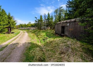 Army bunkers in Orlicke Hory, Czech republic. - Shutterstock ID 1951824055