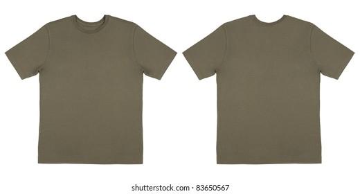 Army Drab Green Knit T Shirt Off Body Flat