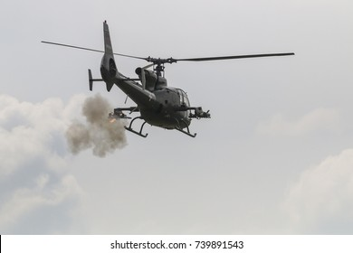 Army Helicopter firing anti tank missile
