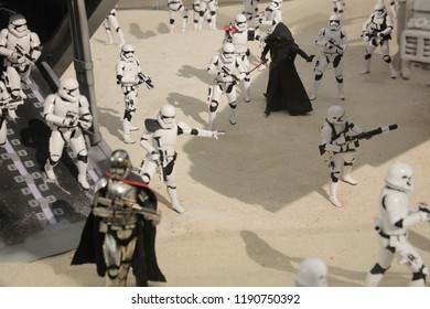 the army of miniature model Stormtroope