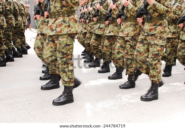 Army parade - Soldiers marching