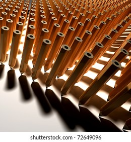 Army of Pencils on table