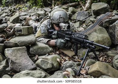 army ranger machine gunner