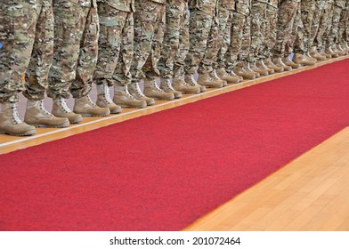 Army in the row