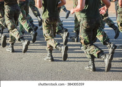 Army soldier running