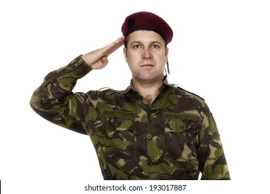 army soldier saluting isolated on white background 293ef950481