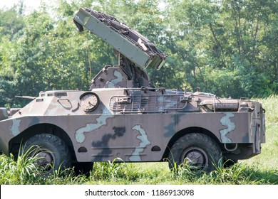 Army trophy vehicle from the Croatian war of independence exposed in a  Memorial center of the city of Vukovar