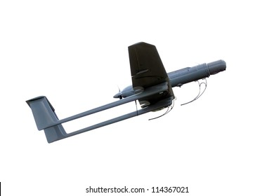 army uav modern plane isolated on white background