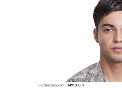 Army veteran half portrait