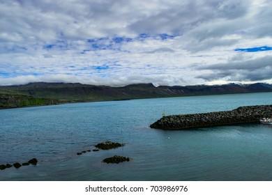 Arnarstapi, Iceland. Circa July 2017. Harbor in the small fishing village of Arnarstapi, on the Snaefellsnes Peninsula