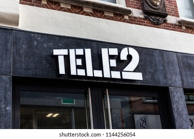 Arnhem, Netherlands 15.04.2018: Tele2 is a European telecommunications operator headquarters in Stockholm, Sweden. It is a major telephone operator in the Nordic and Baltic countries.