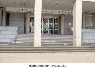 Arnhem, Netherlands - April 7, 2019: Building of the court of Justice Arnhem
