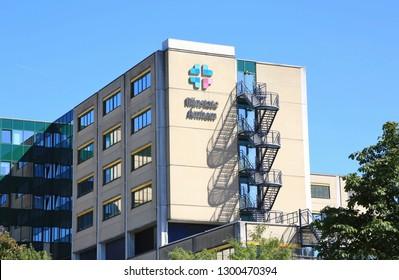 Arnhem, The Netherlands - August 17, 2016: Hospital Rijnstate in Arnhem in the Netherlands