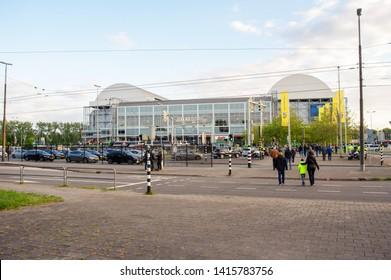Arnhem, Netherlands - June 3, 2019: Gelredome during a football match of Vitesse. Gelredome is a football stadium in the city of Arnhem