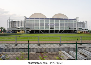 Arnhem, Netherlands - June 3, 2019: The back of Gelredome. Gelredome is a football stadium in the city of Arnhem