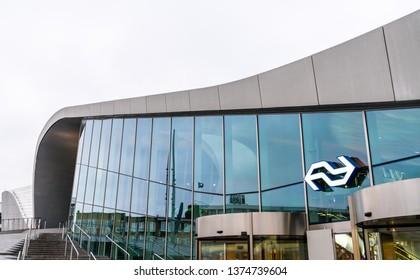 Arnhem, Netherlands - March 02, 2019: Arnhem Centraal railway station. The station was opened after reconstruction in 2015